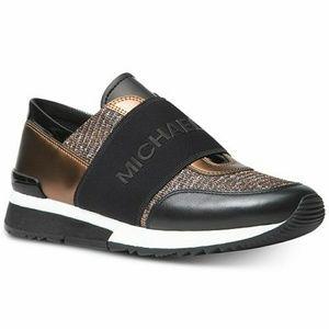 Michael Kors Shoes - Michael Kors MK Trainers Black/Bronze